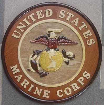 OCLO10USMC - United States Marine Corps Wood Seal