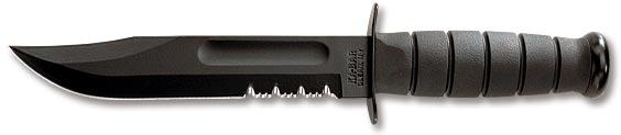 Full-size Black KA-BAR, Serrated Edge 1212