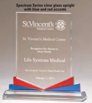 "OCTG2648 - 6 1/4"" x 7 3/8"" Spectrum Series Upright Award"