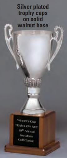"""OCT345C - 10-1/4"""" Silver Plated Trophy Cup"""
