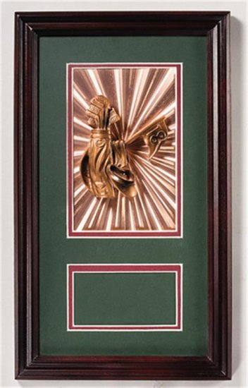 OCTFR46 - High Gloss Rose-Wood Picture Frame with Golf Ball