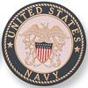 "Navy 2"" Etched Enameled"