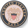 "Navy 2"" Stamped Medallion"