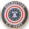 """Army 2"""" Etched Enameled"""