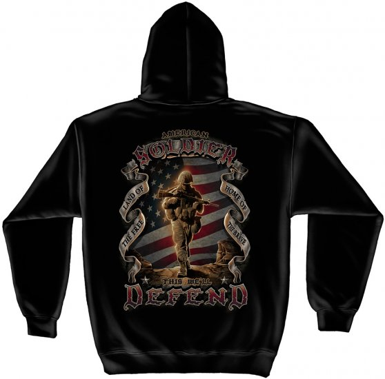 Hooded Sweat Shirt American Soldier
