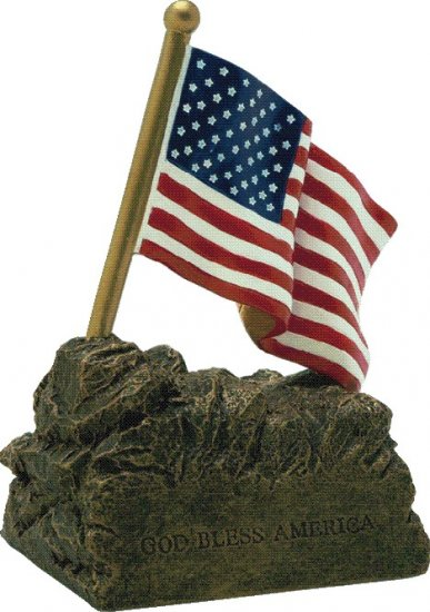 OCCRC-476 - US Flag Resin Trophy