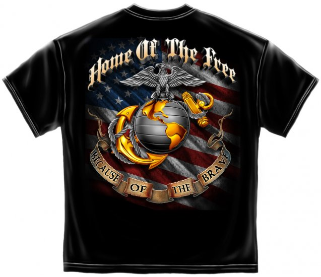 USMC/Home Of The Free Because Of The Brave