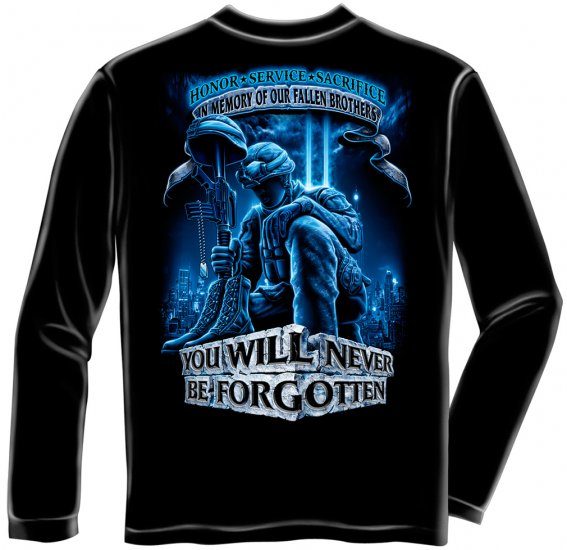 Long Sleeve Never Forget Fallen Soldier