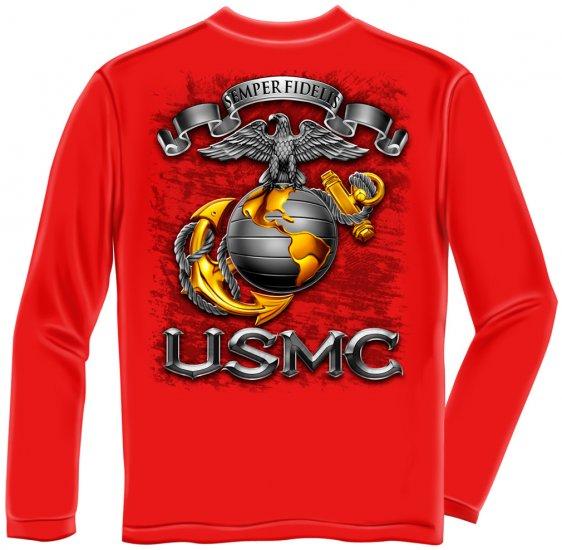 Long Sleeve USMC Badge Of Honor