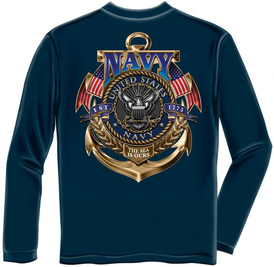 Long Sleeve Navy The Sea Is Ours