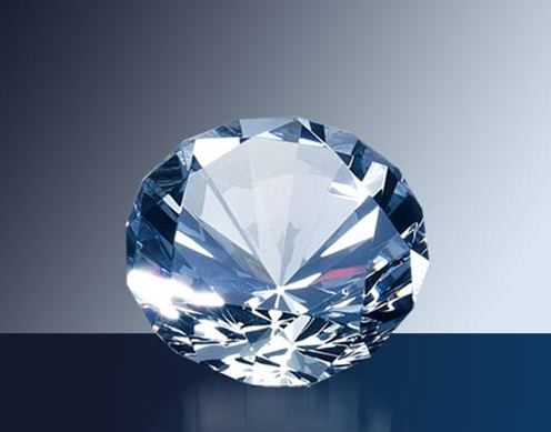 OCPRC652 - Medium Diamond Paperweight