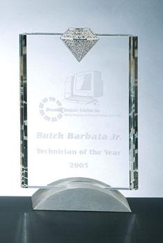 OCPRCLD01 - Vertical Luxury Diamond Award