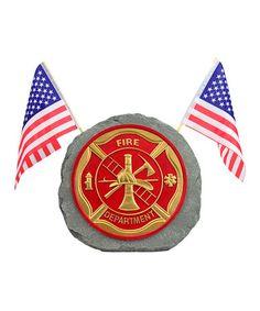 OCRC-35175 Fire Fighter Garden Stone