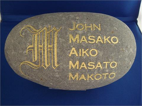 Grey Stone With Names