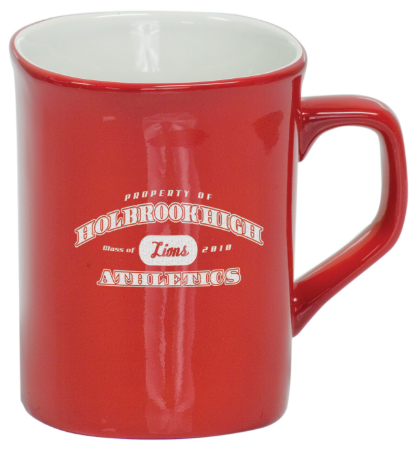 Coffee Mug Red/White