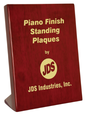 "OCPSP14 - 7-1/4"" x 9-1/4"" Rosewood Piano Finish Standing Plaque"