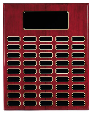 "18"" X 24"" Rosewood Finish Perpetual Plaque"