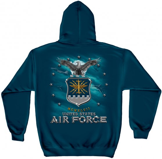 Hooded Sweat Shirt Air Force UASF Missile Navy