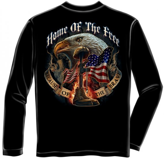 Long Sleeve Home Of The Free Because Of The Brave