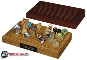 11 Row Coin Rack (Cherry)