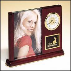 OCTBC19 - Rosewood Photo Frame and Clock