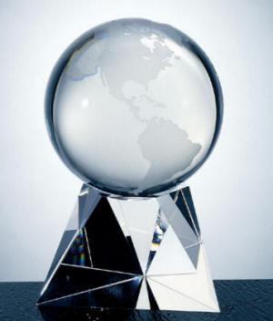 OCPRC560BE - Small World Globe with Traingle Base