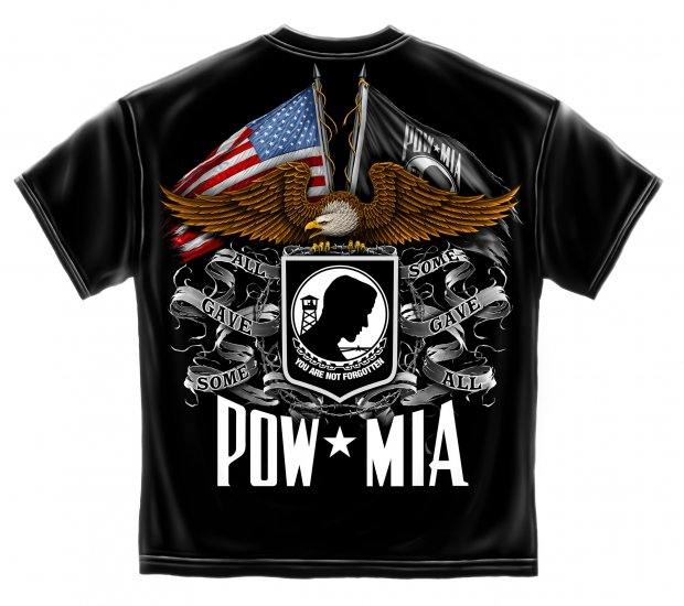 Double Flag Eagle Pow Black