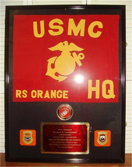 Super Sized Shadow Box with Guidon