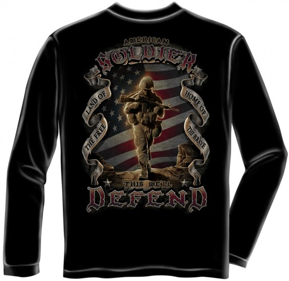 Long Sleeve American Soldier