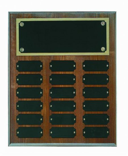 "12"" X 18"" Step Edge Genuine Walnut Perpetual Plaque"
