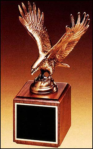 "9"" Fully Modeled Antique Bronze Eagle Casting"