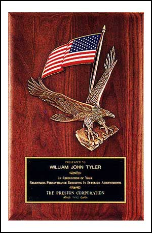 8 X 10 1/2 Solid American Walnut Airflyte Plaque