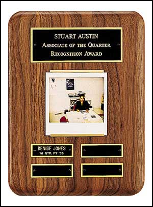 """9"""" X 12"""" Solid American Walnut Airflyte Perpetual Plaque"""