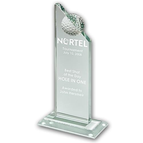 OCPRGPG01 - Small Jade Glass Golf Pinnacle