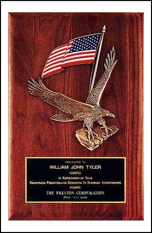 """OCTP2394 - 8"""" x 10-1/2"""" American Walnut Eagle Plaque"""