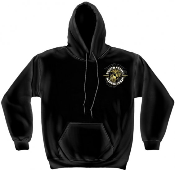 Hooded Sweat Shirt Soldiers Cross