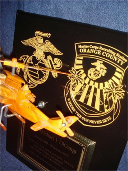 Helicopter Award Plaque